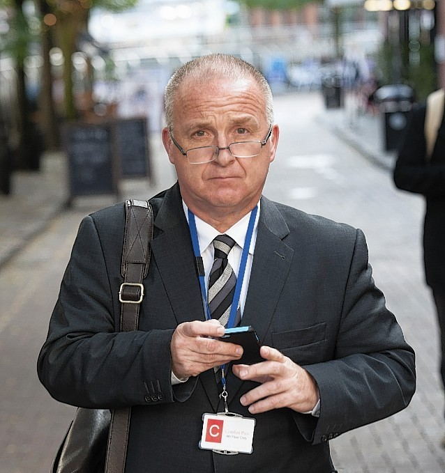 Dr Gordon Carter, pictured outside the hearing