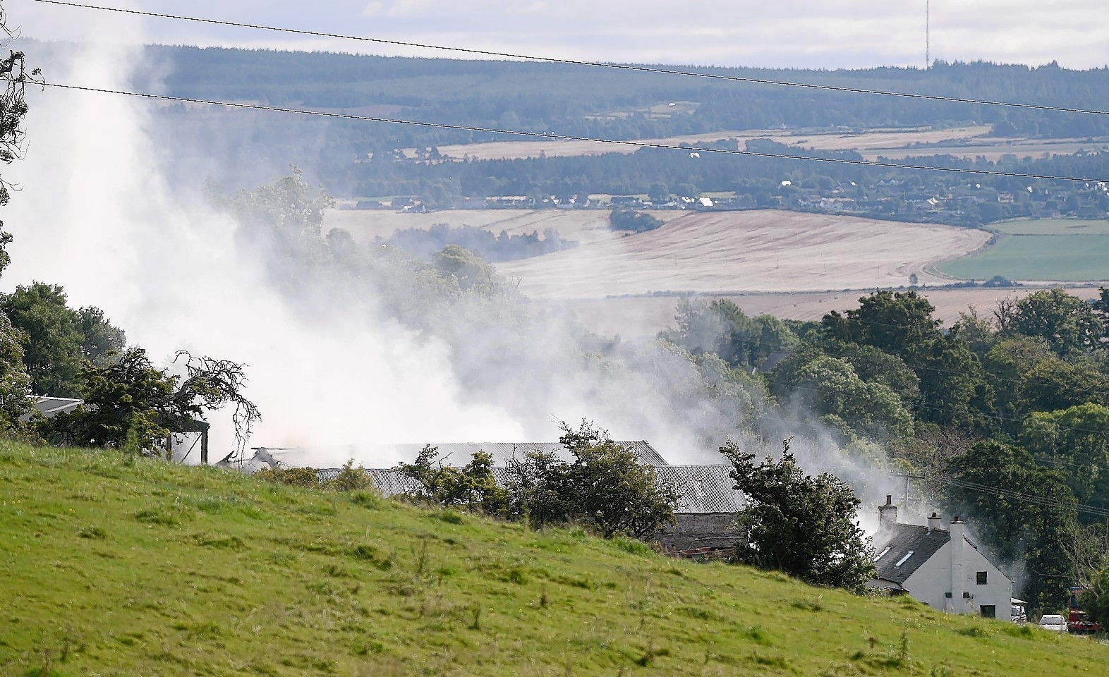 The scene of the fire Drynie Farm near Dingwall