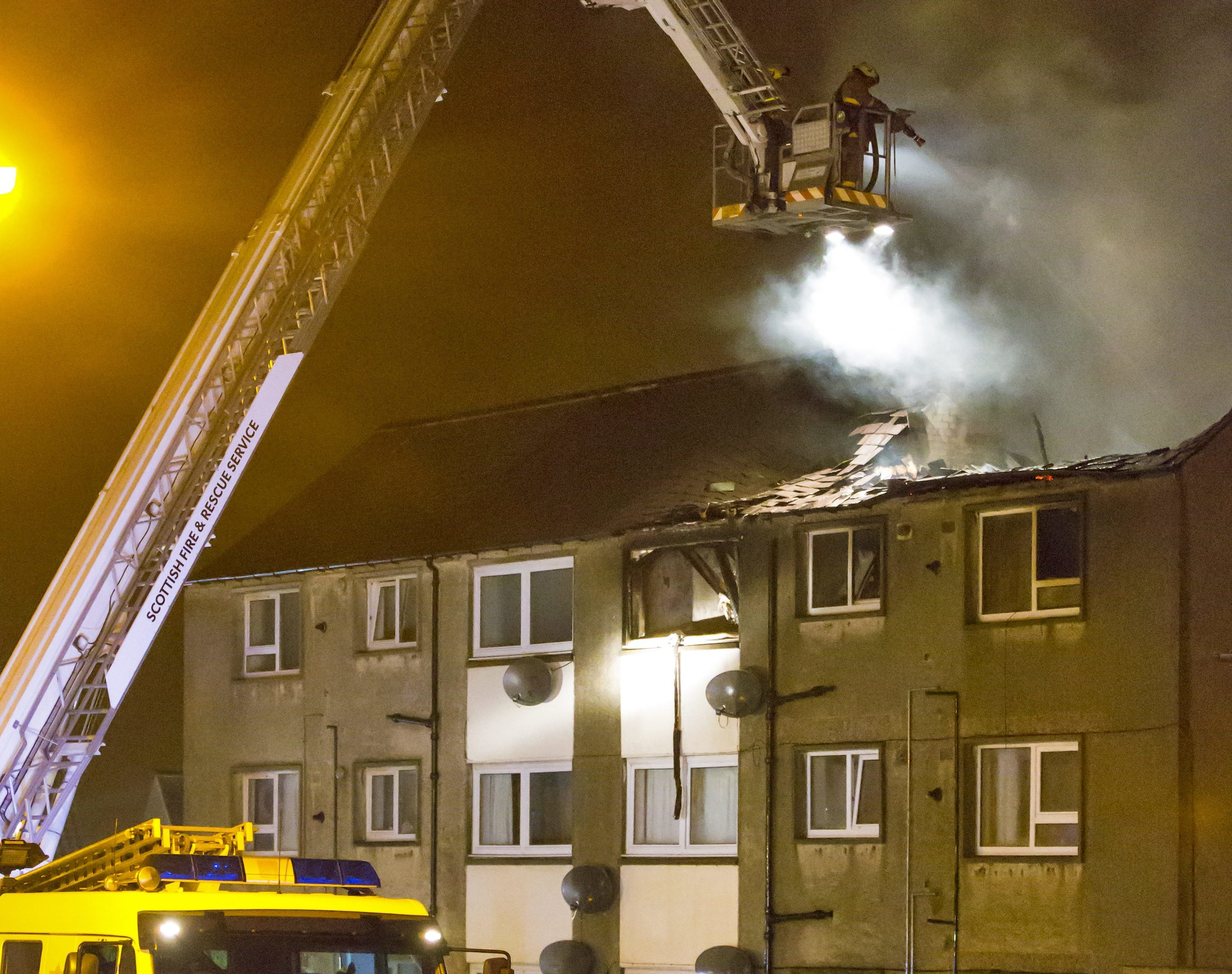The fatal fire at Newtown Drive in Macduff.