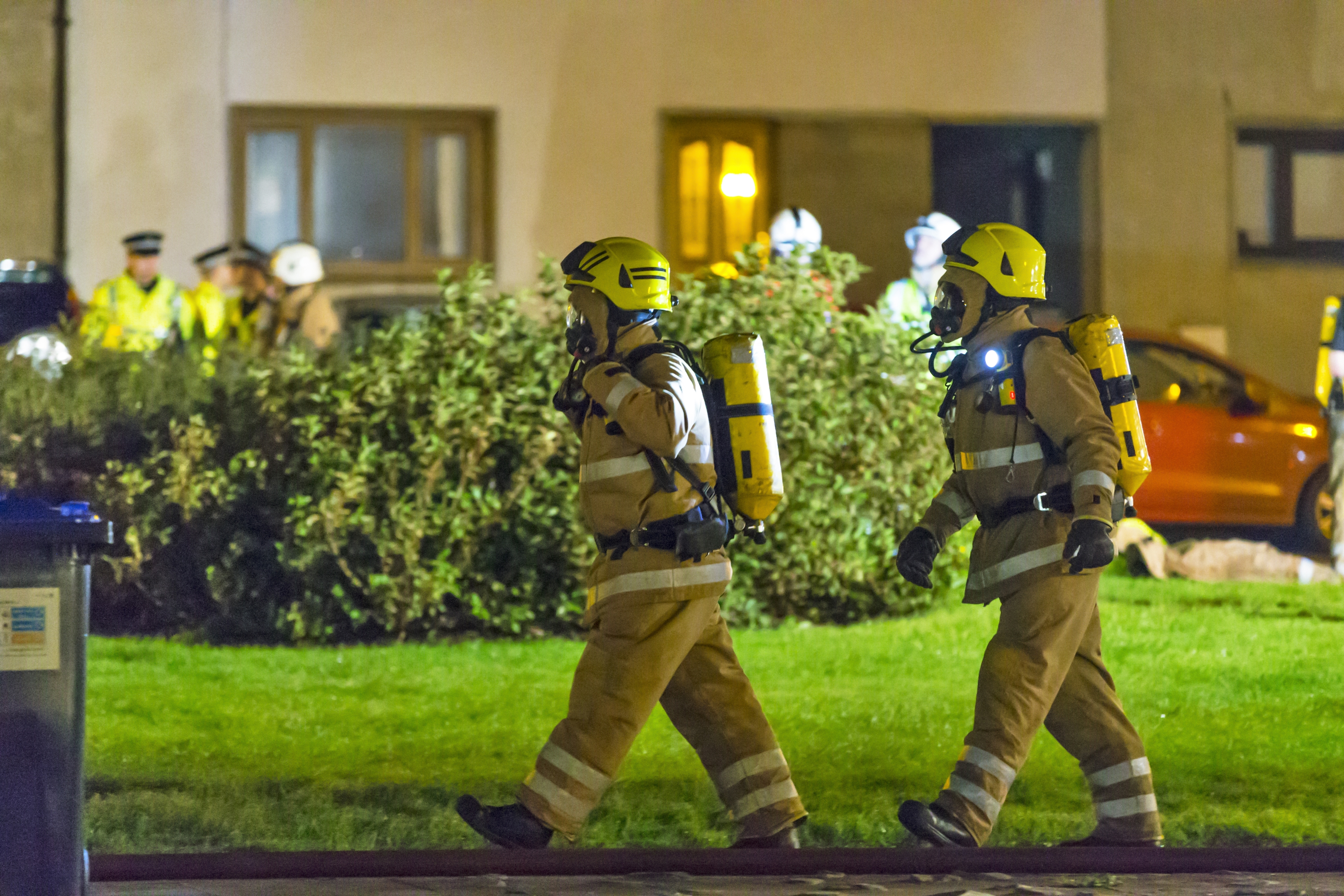 SFRS say 28 firefighters required breathing apparatus during the blaze