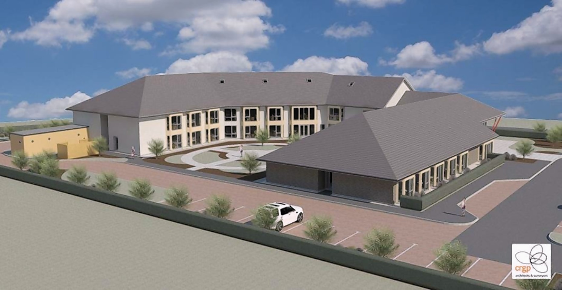 An artist's impression of the Parklands care home in Fortrose