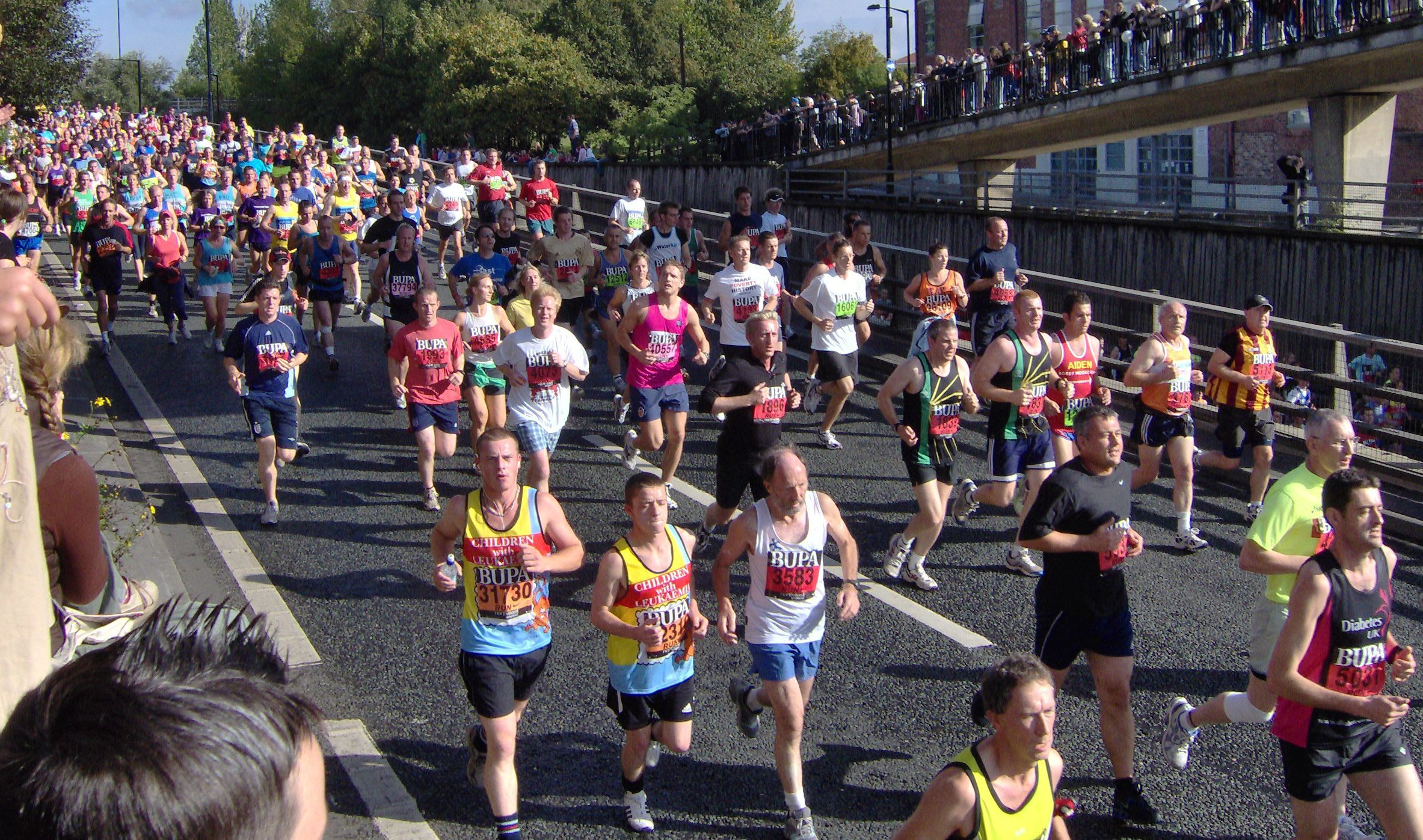 Thousands of people took to the streets for the Great North Run today