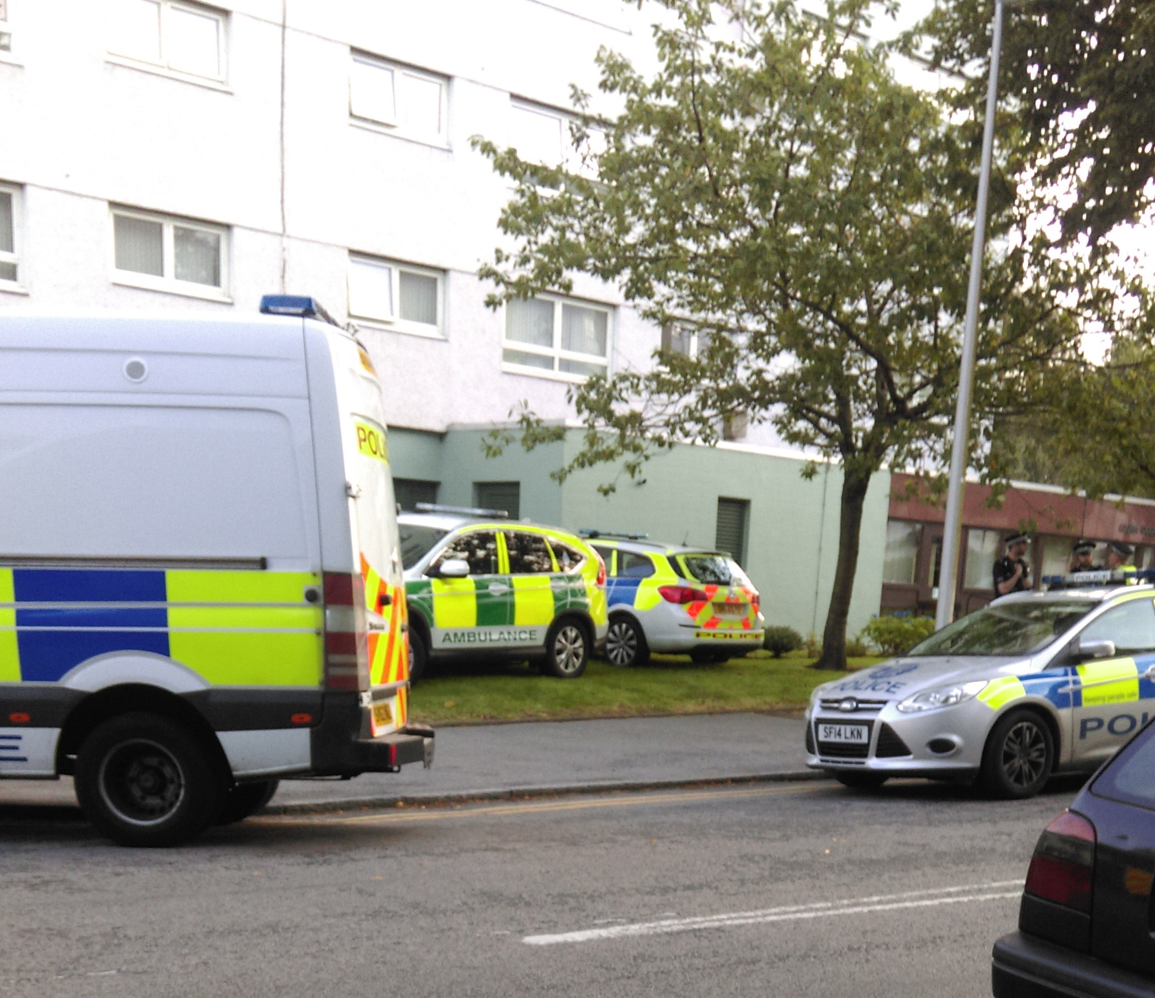 The man fell from a window in Gairn Court
