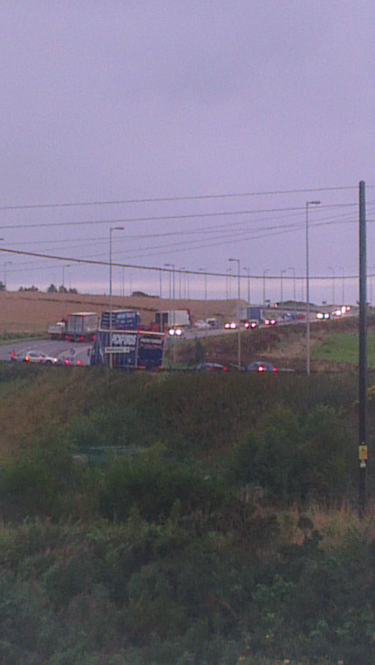 Queues forming on the A90 after the crash