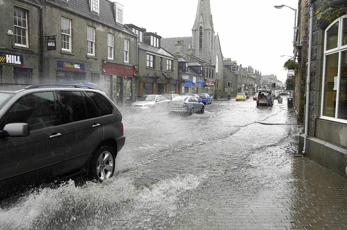 Inverurie has been badly affected by flash floods over the years