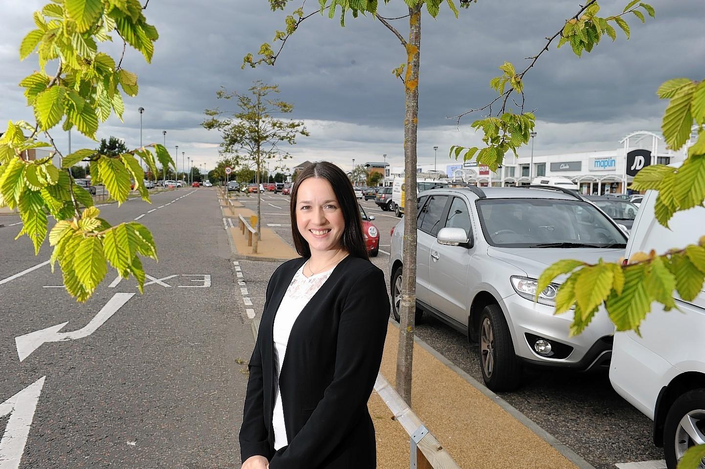 Kirsteen Gunn, manager of Inverness Shopping Park