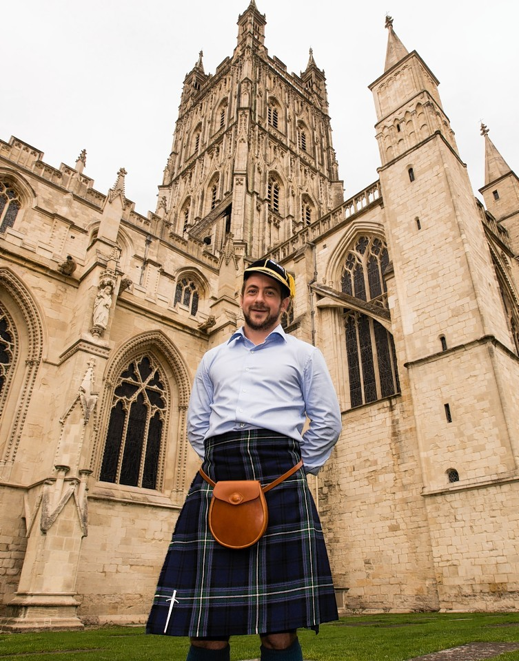 Scotland captain Greig Laidlaw at the RWC 2015 Welcome Ceremony at Gloucester Cathedral