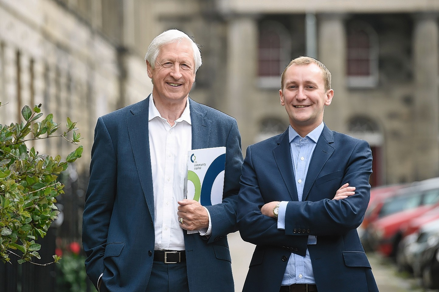 Social Investment Scotland Chairman Nick Kuenssberg and Chief Executive Alastair Davis