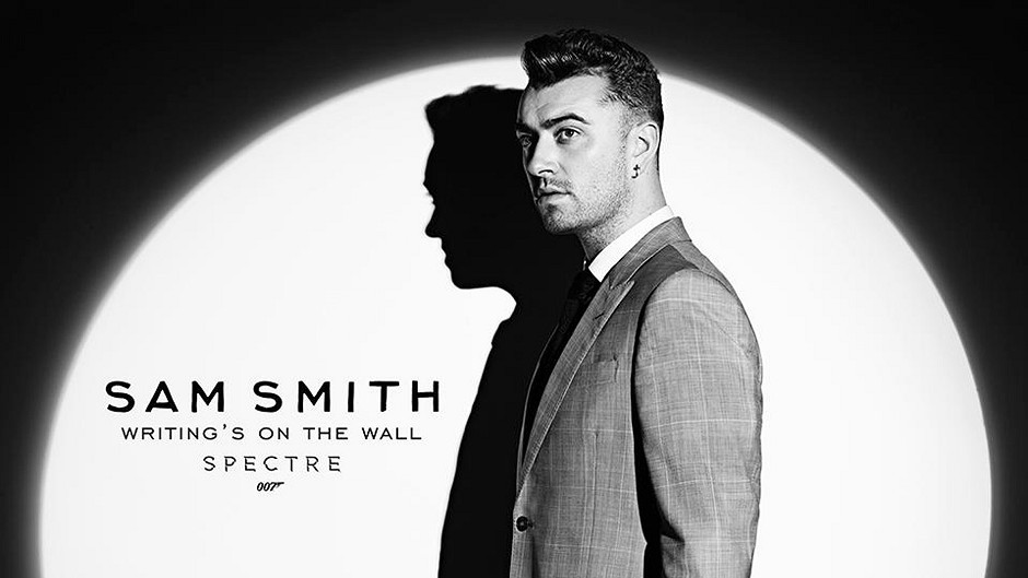 Sam Smith, the voice of the new Bond theme song, Writing's on the Wall.