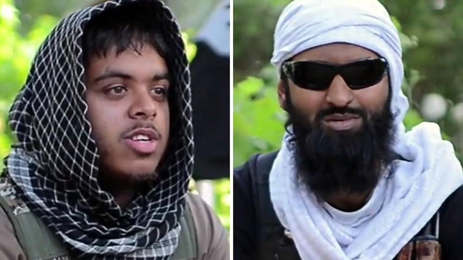 Reyaad Khan (left) and Ruhul Amin were killed in an RAF drone attack in Syria