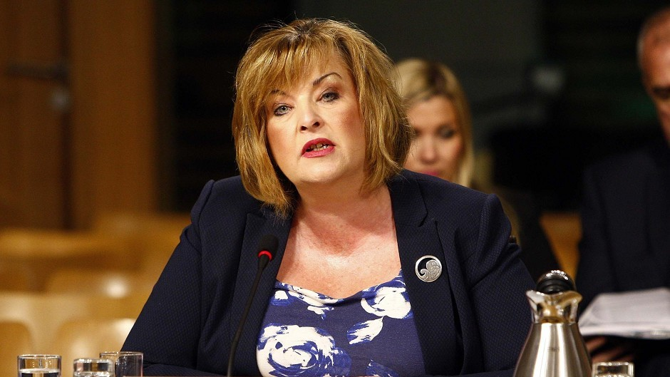 Culture Secretary Fiona Hyslop gives evidence to the Education and Culture Committee to answer questions about a £150,000 grant to T in the Park (Andrew Cowen/Scottish Parliament/PA Wire)