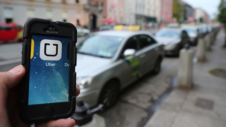 Uber the taxi app