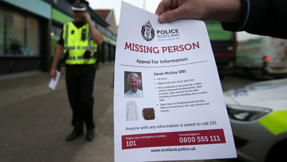 Police looking for missing woman Janet McKay have found a body in Clydebank