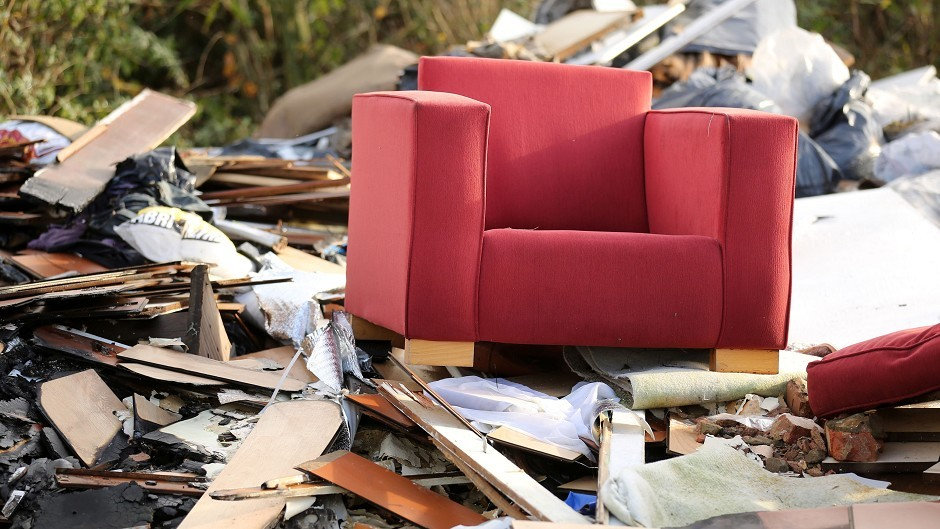 The number of fly-tipping incidents has increased during the Covid-19 pandemic.