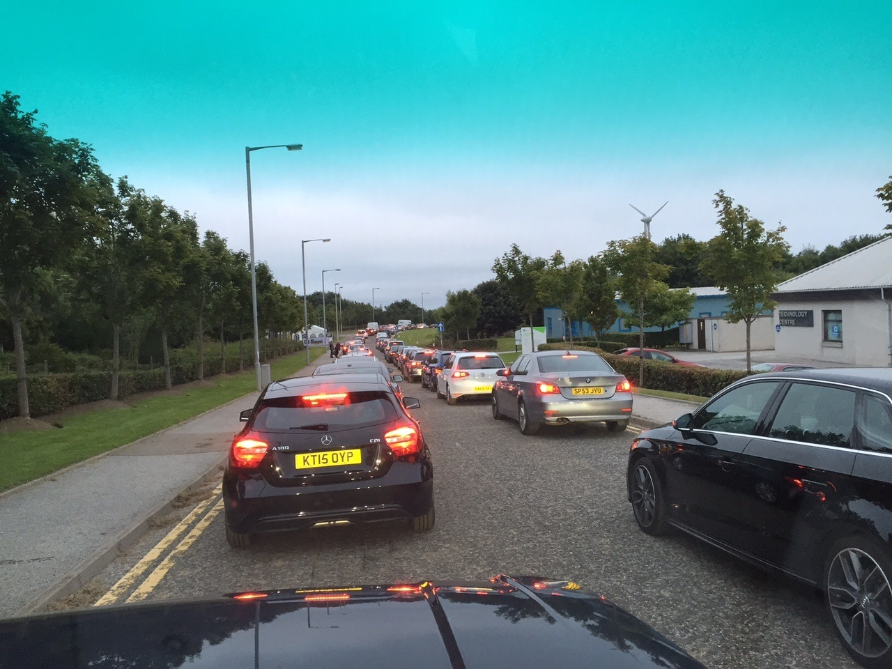 Traffic is currently gridlocked in the Bridge of Don area, as hundreds of people attempt to leave the AECC