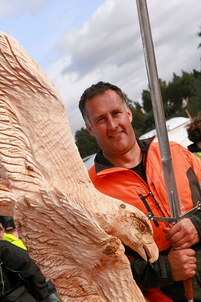 Last year's winner Pete Bowsher is returning to Carrbridge to defend his title