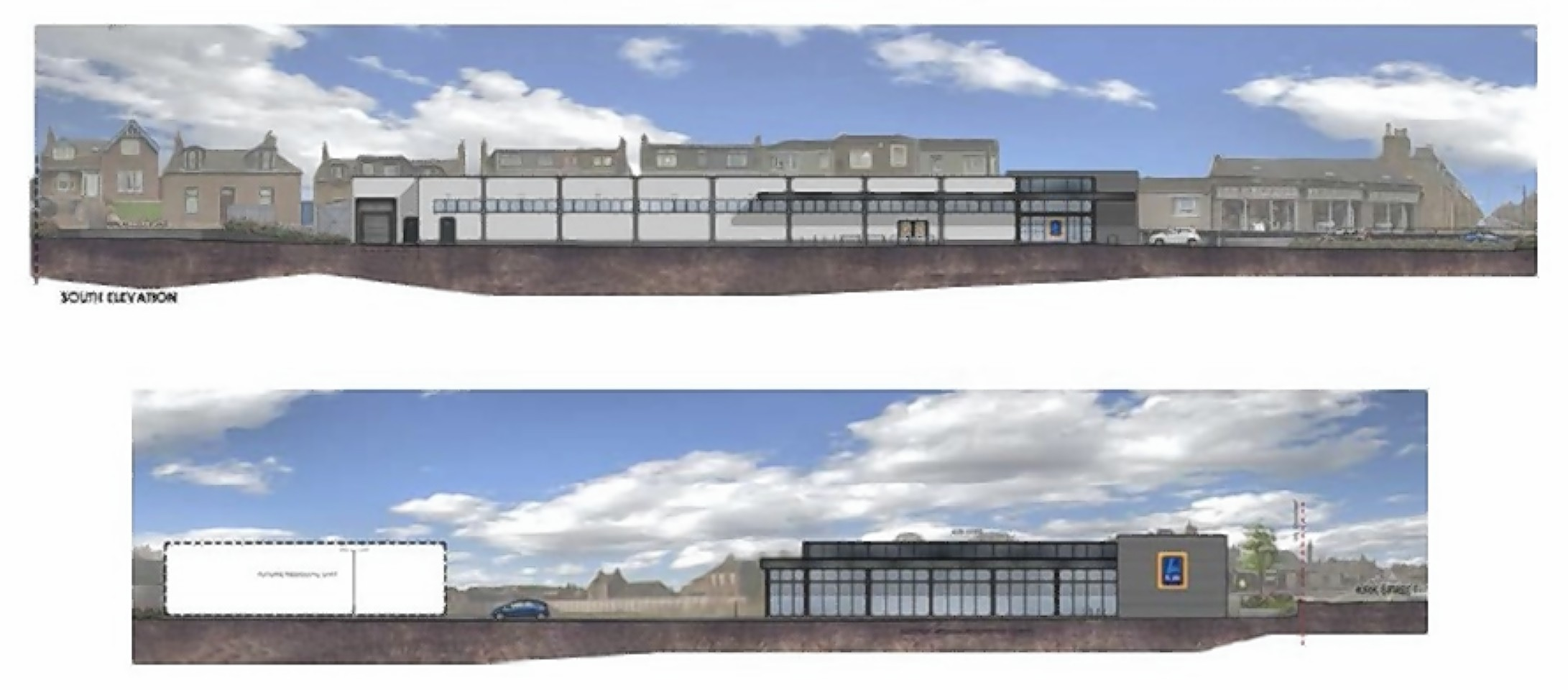 Aldi was granted permission to transform the former Kirkburn Mill land in Peterhead into a retail outlet