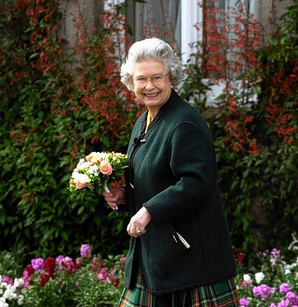 The Queen at Balmoral Castle