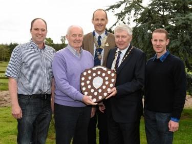 David Allan, Dougie Allan, Dave Green (RNAS president), Hamish Vernal (Aberdeenshire Provost), and Stuart Allan.