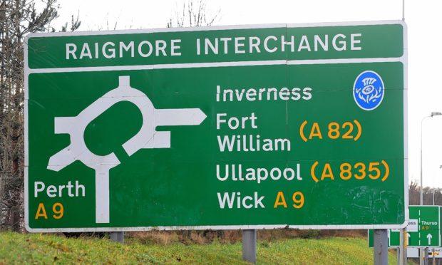 The accident happened on the Raigmore Interchange