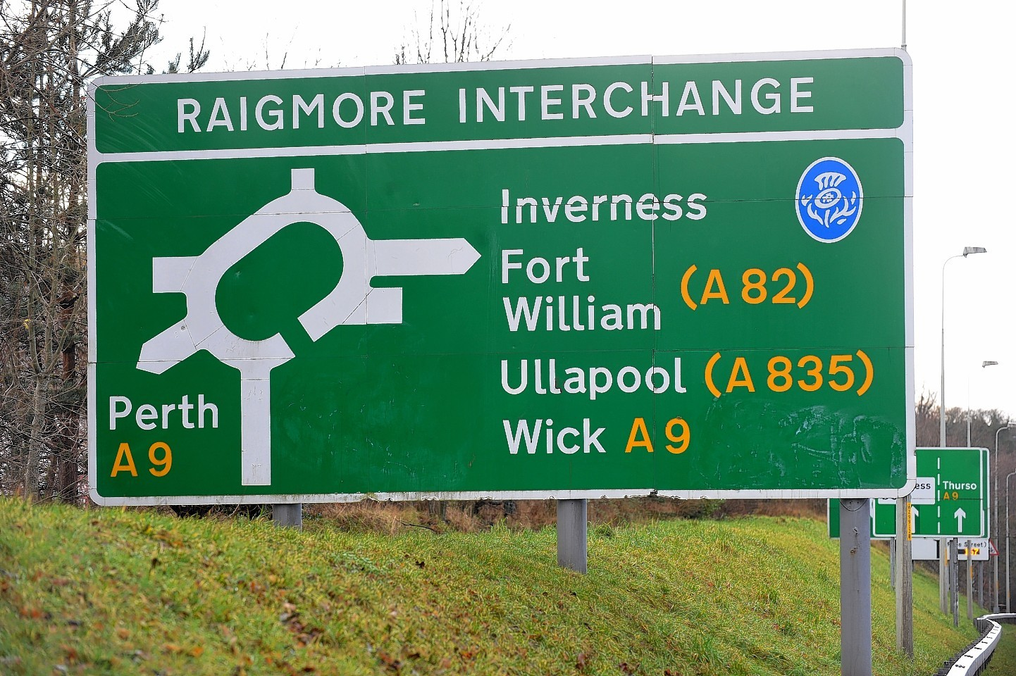 The accident happened on the Raigmore Interchange
