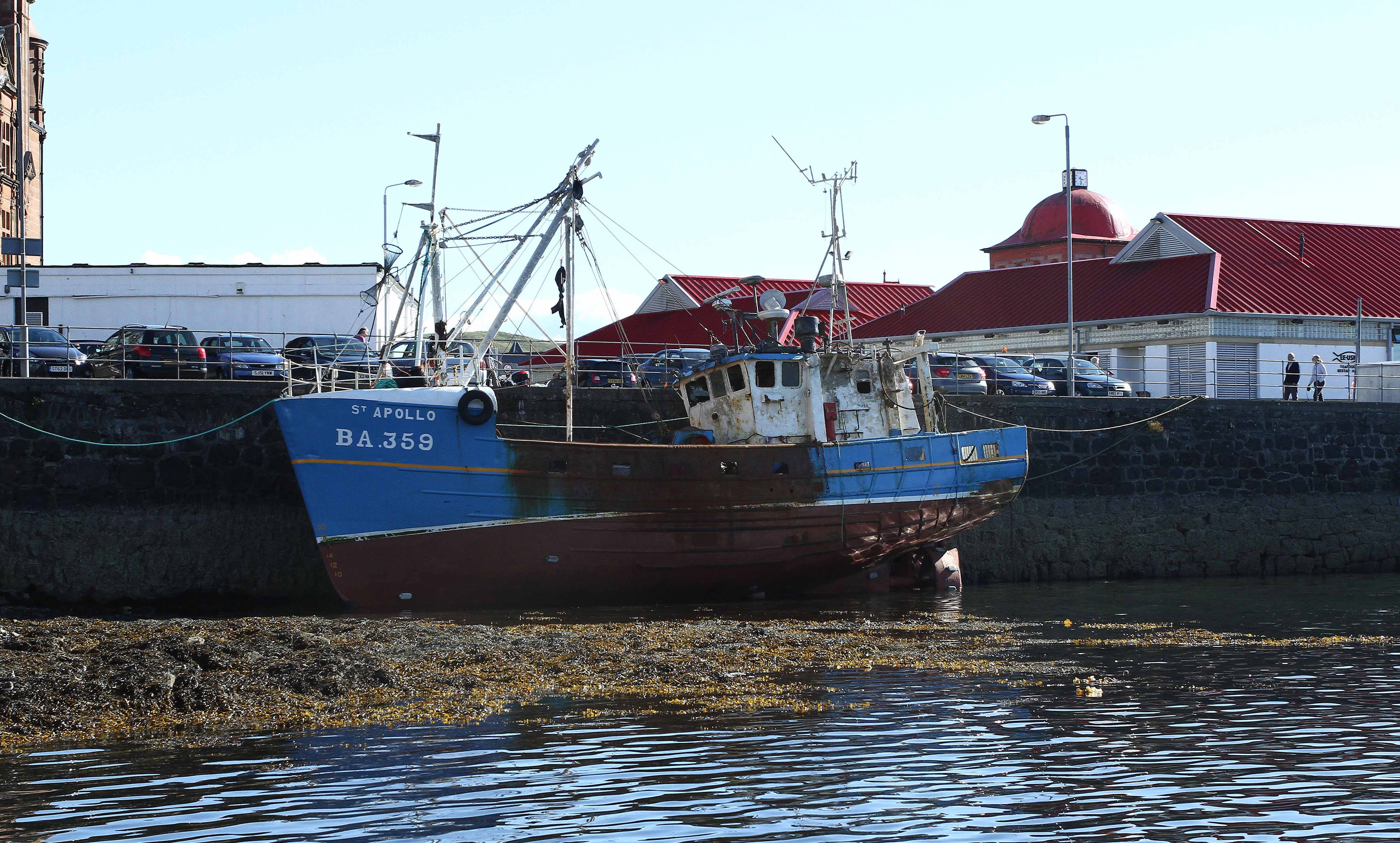 Fishing boat St Apollo lies at the North Pier Oban