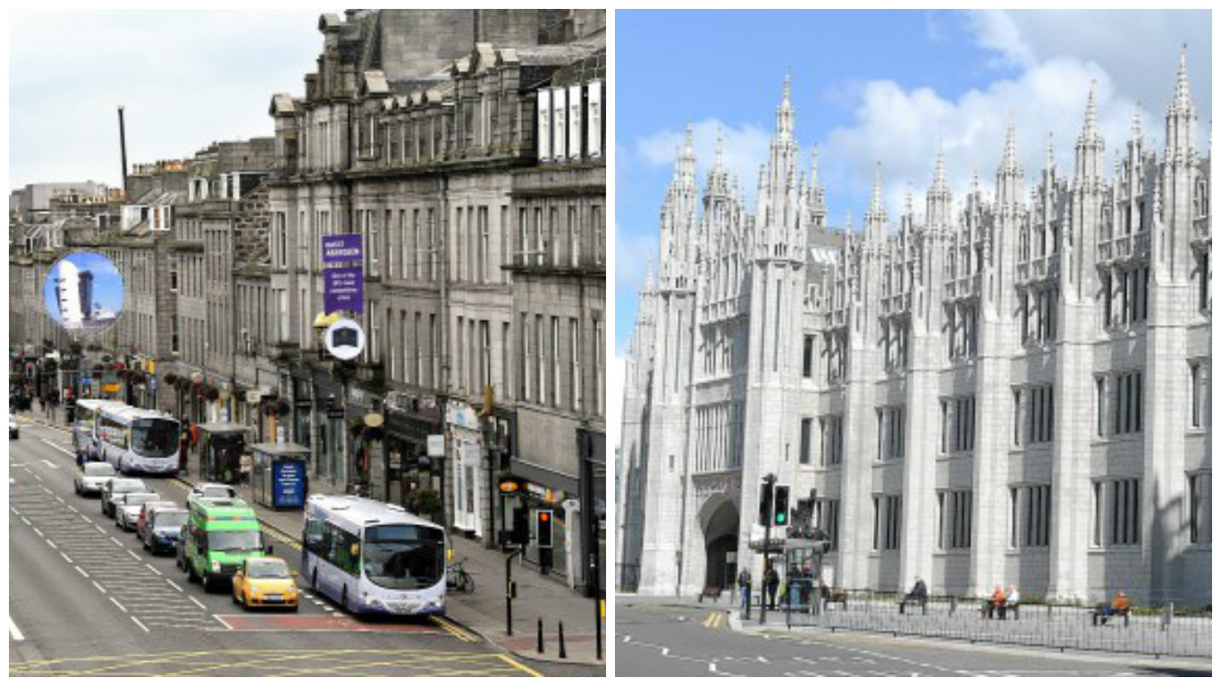 The buildings on Union Street could receive the same treatment as Marischal College