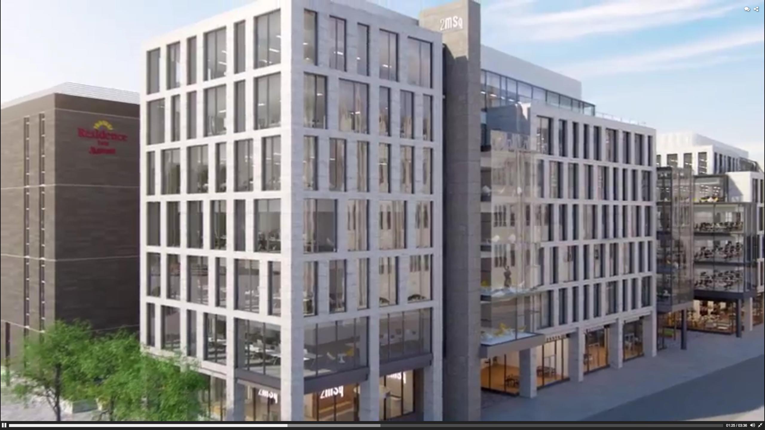 A screenshot from the new Marischal Square development video