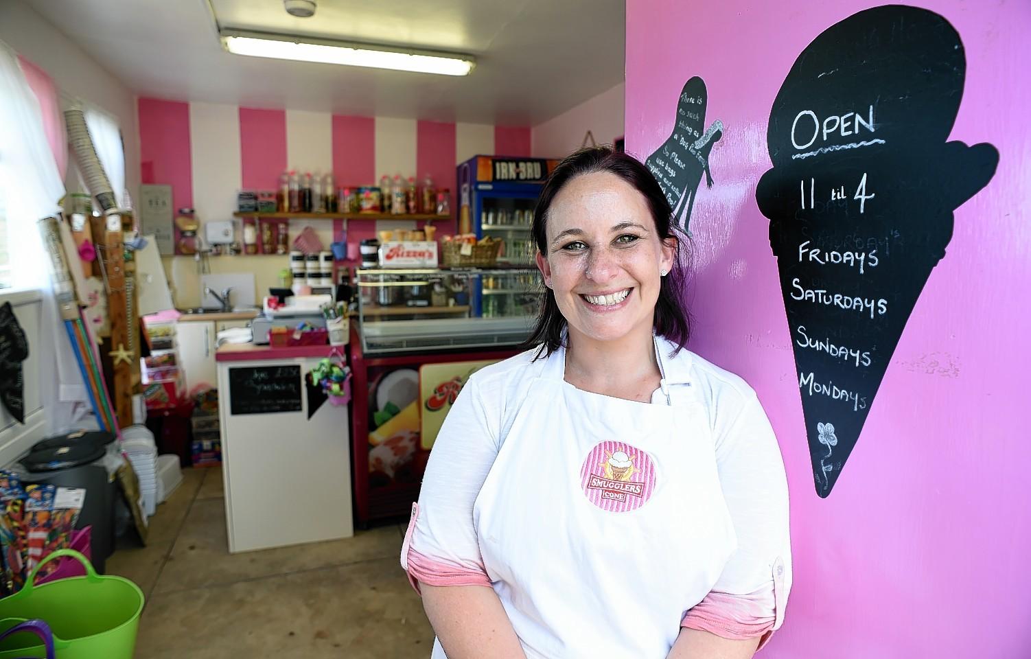 Nicole Barravecchio's Collieston ice cream shop, Smuggler's Cone, will be a permanent feature of the village