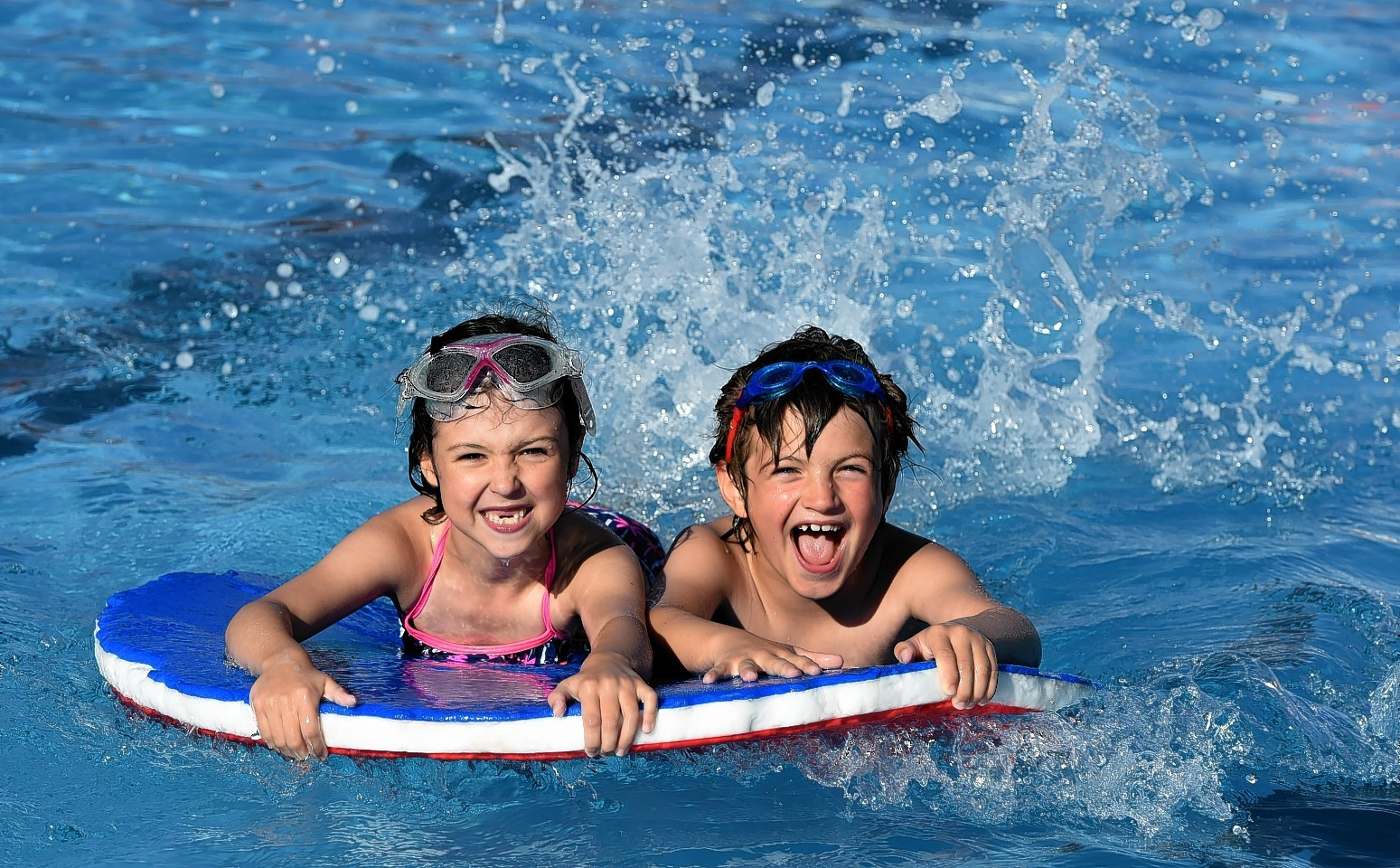 Jessica Brown, 7, and Marcus Summers, 7 enjoying the final day of the season in 2015