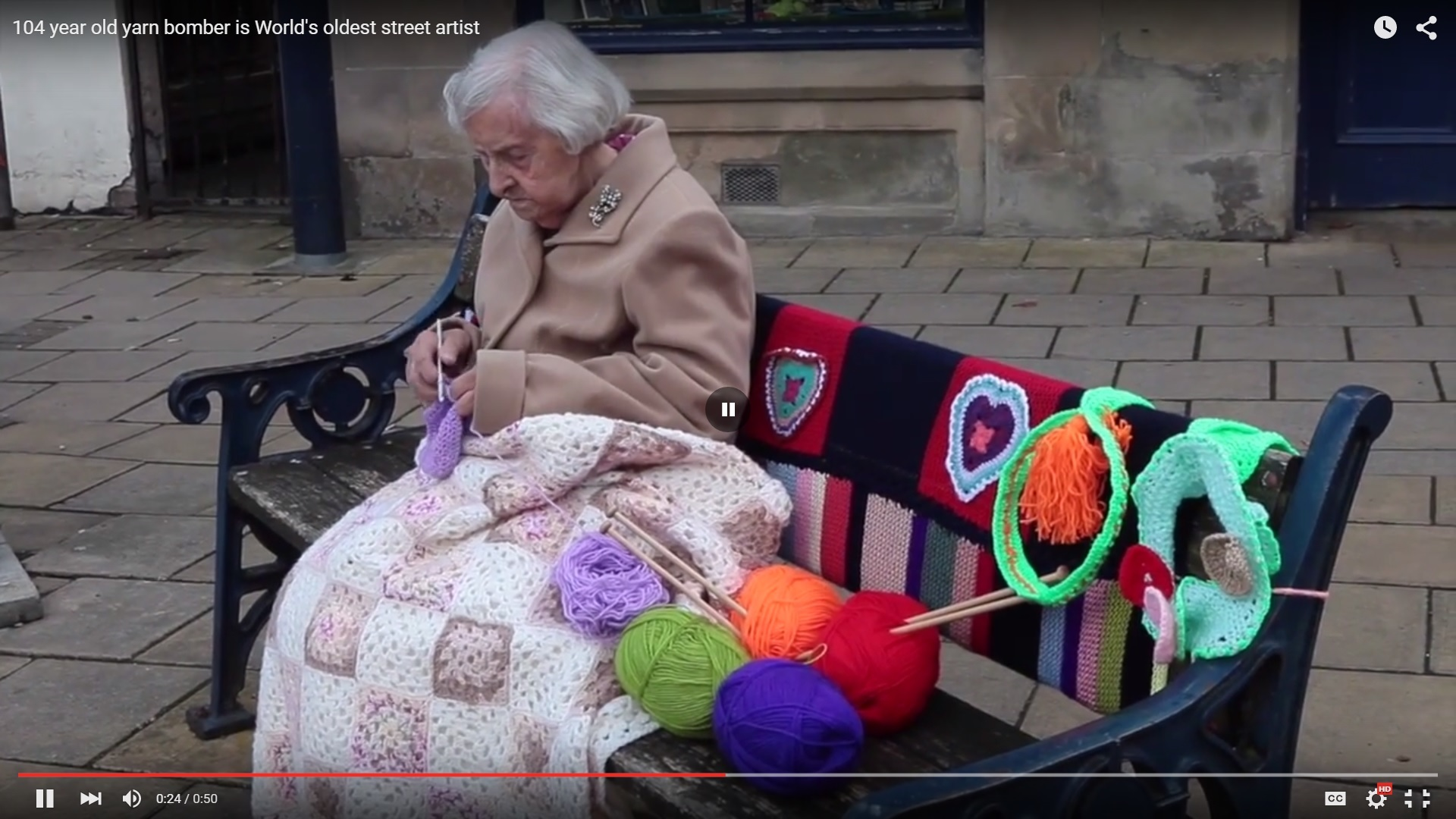 104 years old and still knitting