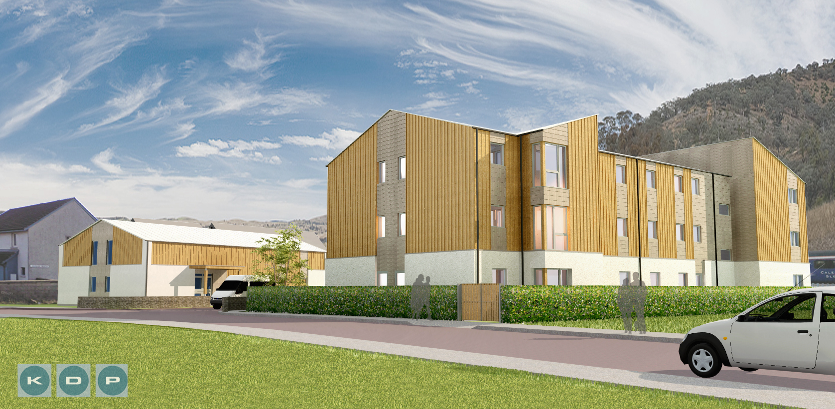 An artists impression of the student flats in Fort William