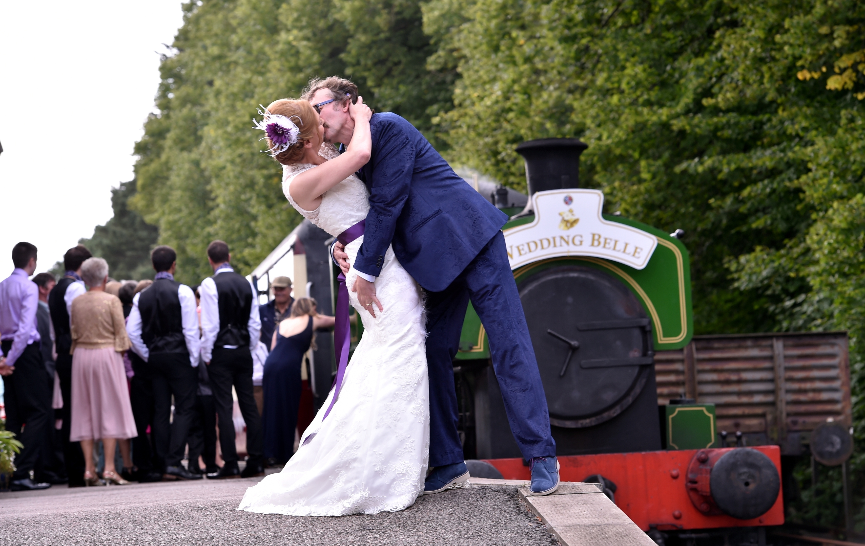 Milton of Crathes Station - the wedding of Shaun Allan and Carol McLaughlin had taken place on the moving carriage.