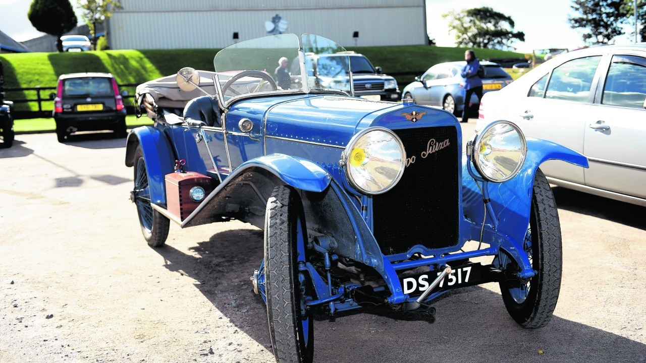 A 1913 Hispano Suiza 30 hp, at the Speyside Cooperage.
