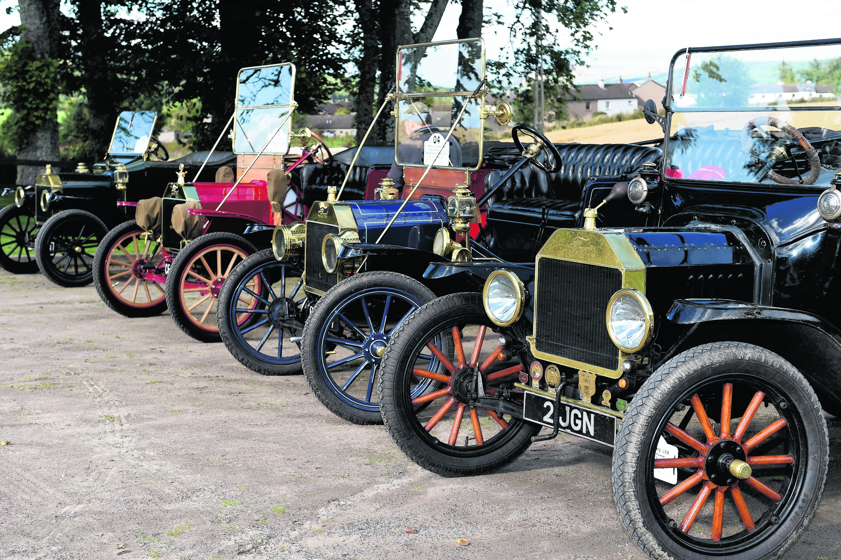 A quad of Ford Model Ts, at the Speyside Cooperage. Pics by Gordon Lennox