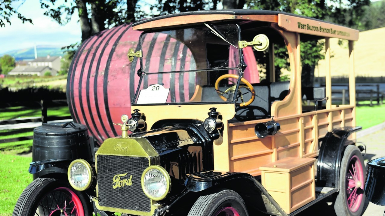 A Ford Model T at Speyside Cooperage.