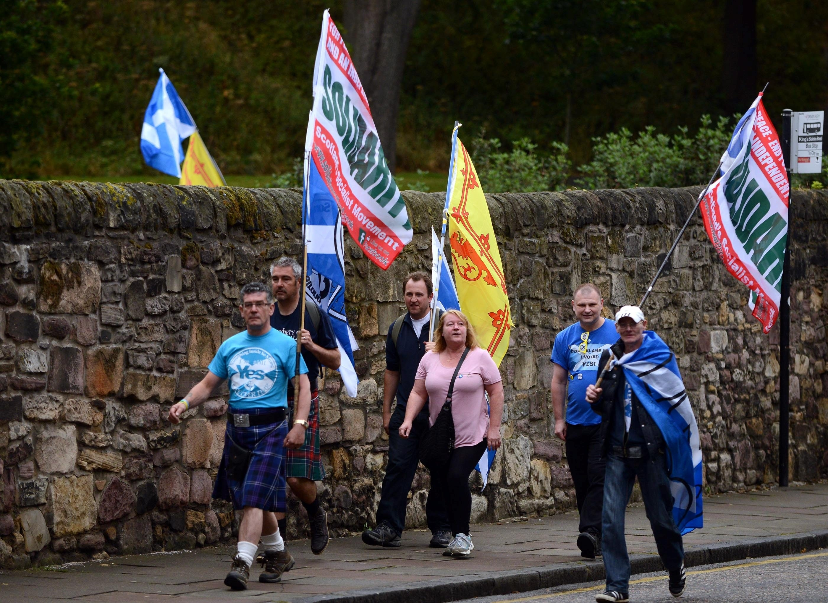 It wouldn't be the Yes movement without a few kilts