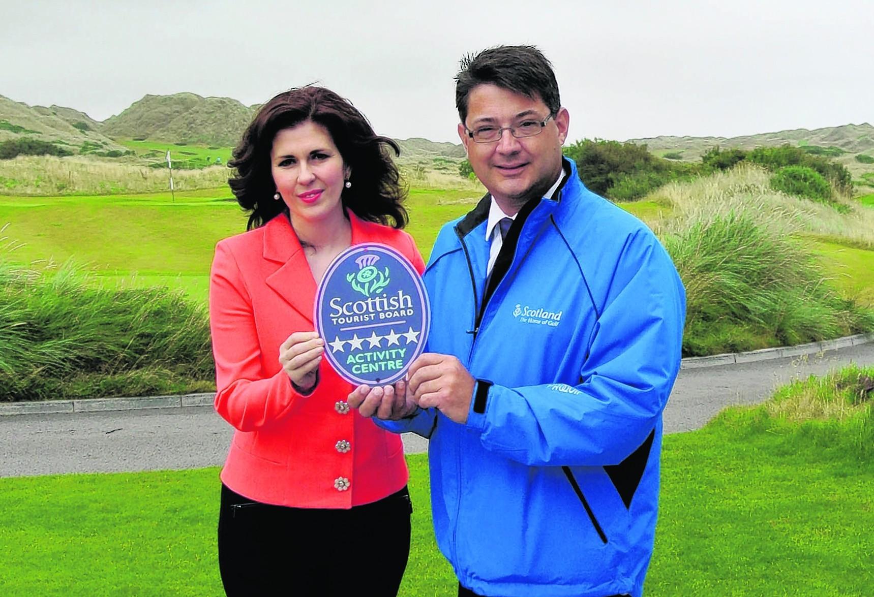 Sarah Malone, executive vice-president at Trump International Golf Links, and Philip Smith, VisitScotland regional director
