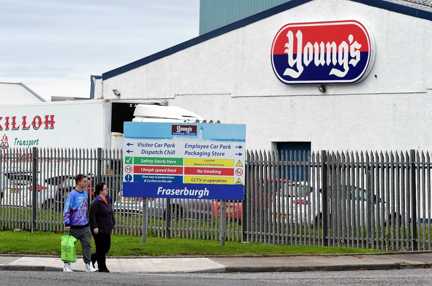 About 600 people were made redundant from Young's Seafood in Fraserburgh.