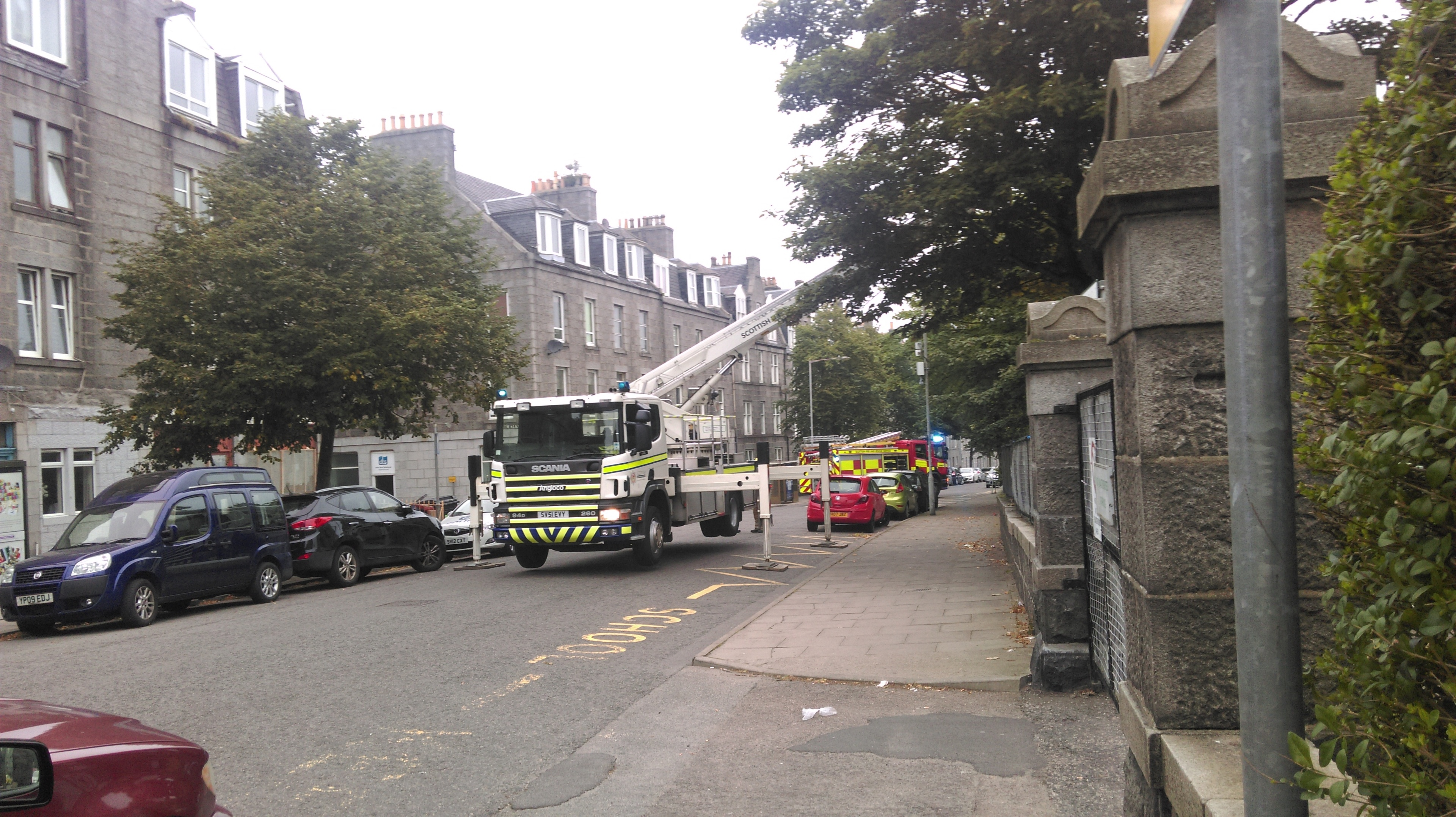 Fire crews at the scene of Walker Road Primary