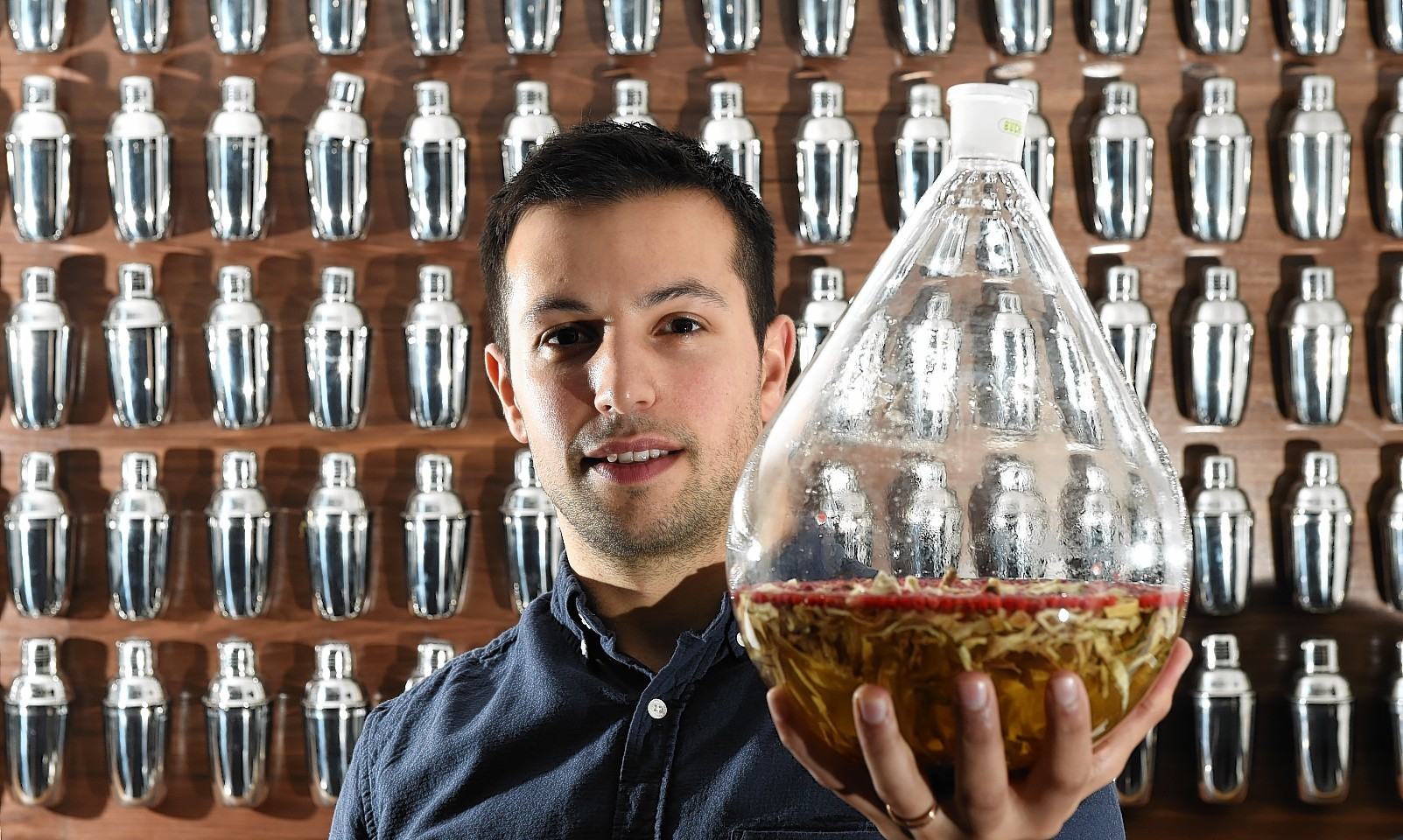 Ben Iravani, owner of the Orchid Bar, who is ready to launch the first gin distilled in Aberdeen for 100 years. Picture by Kevin Emslie