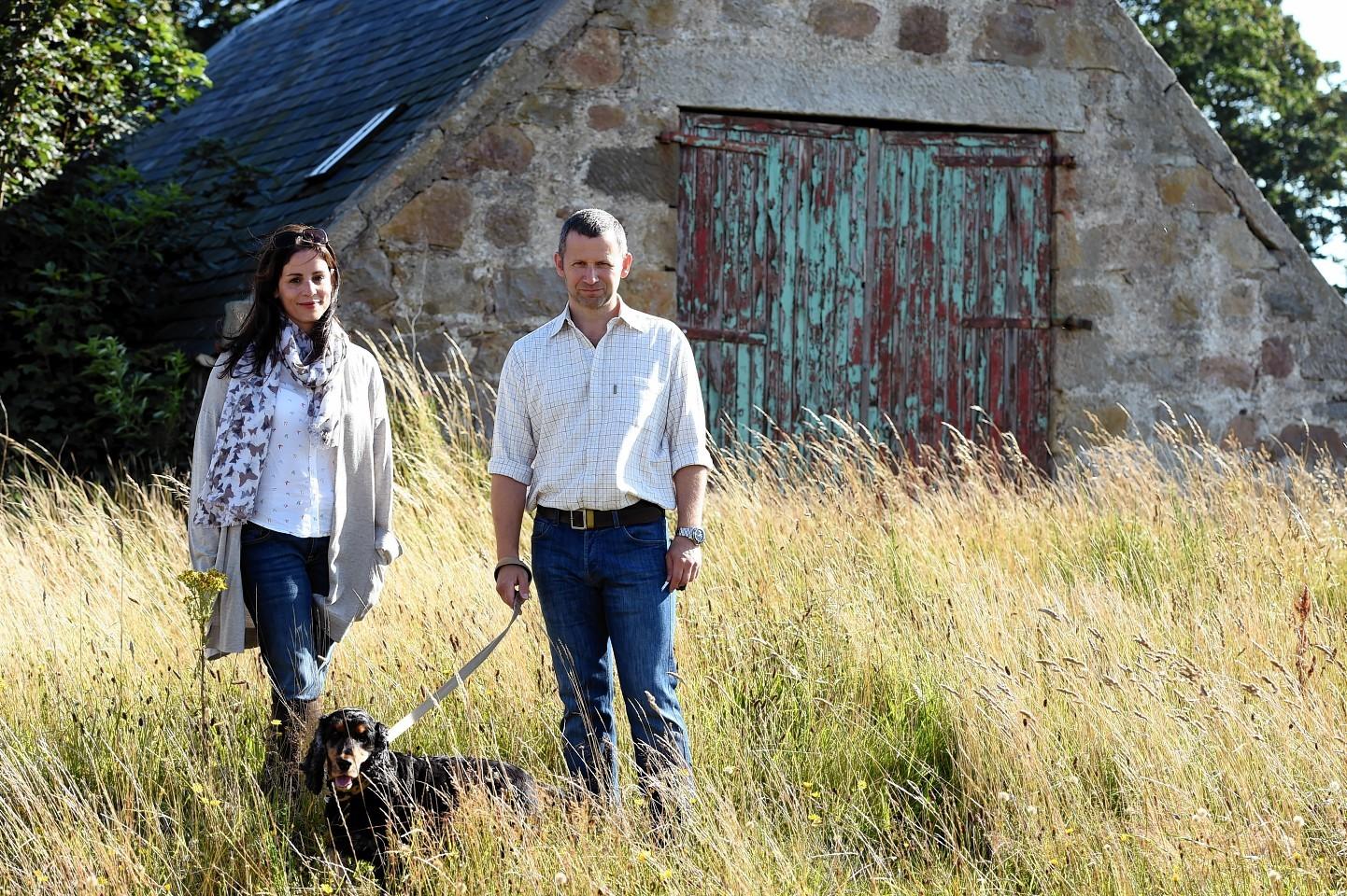 Georgie and Fraser Gordon at Nether Anguston Farm Steading