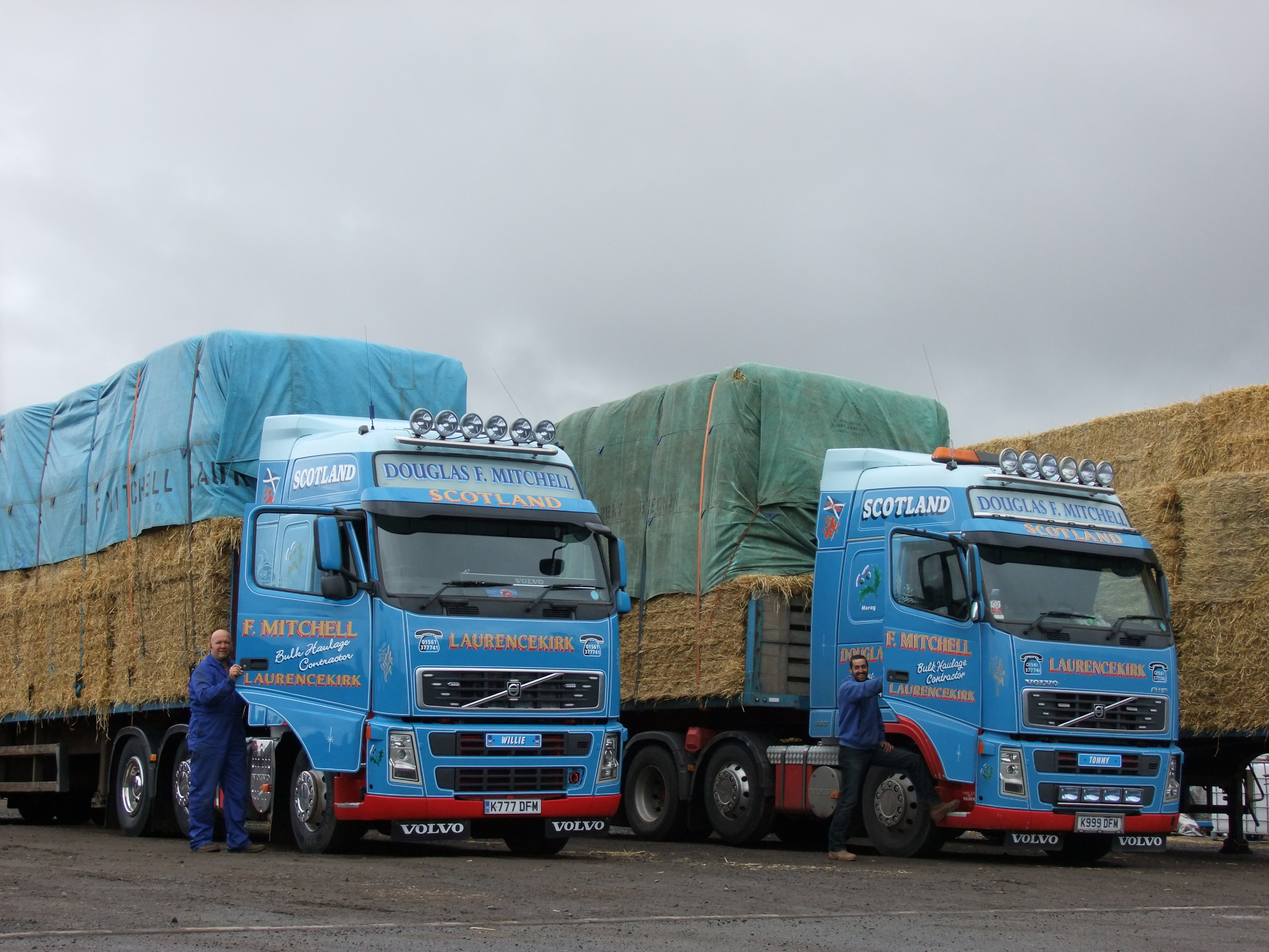 Loads of straw bound for Orkney