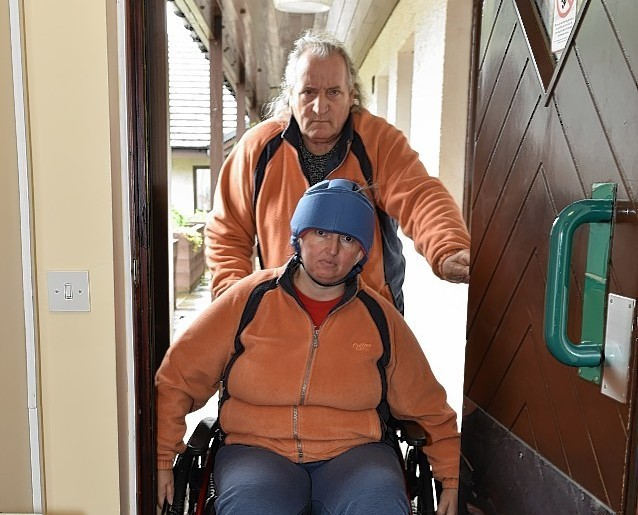 Stuart and Sheila Robertson at their new home in the sheltered housing. Picture by Colin Rennie