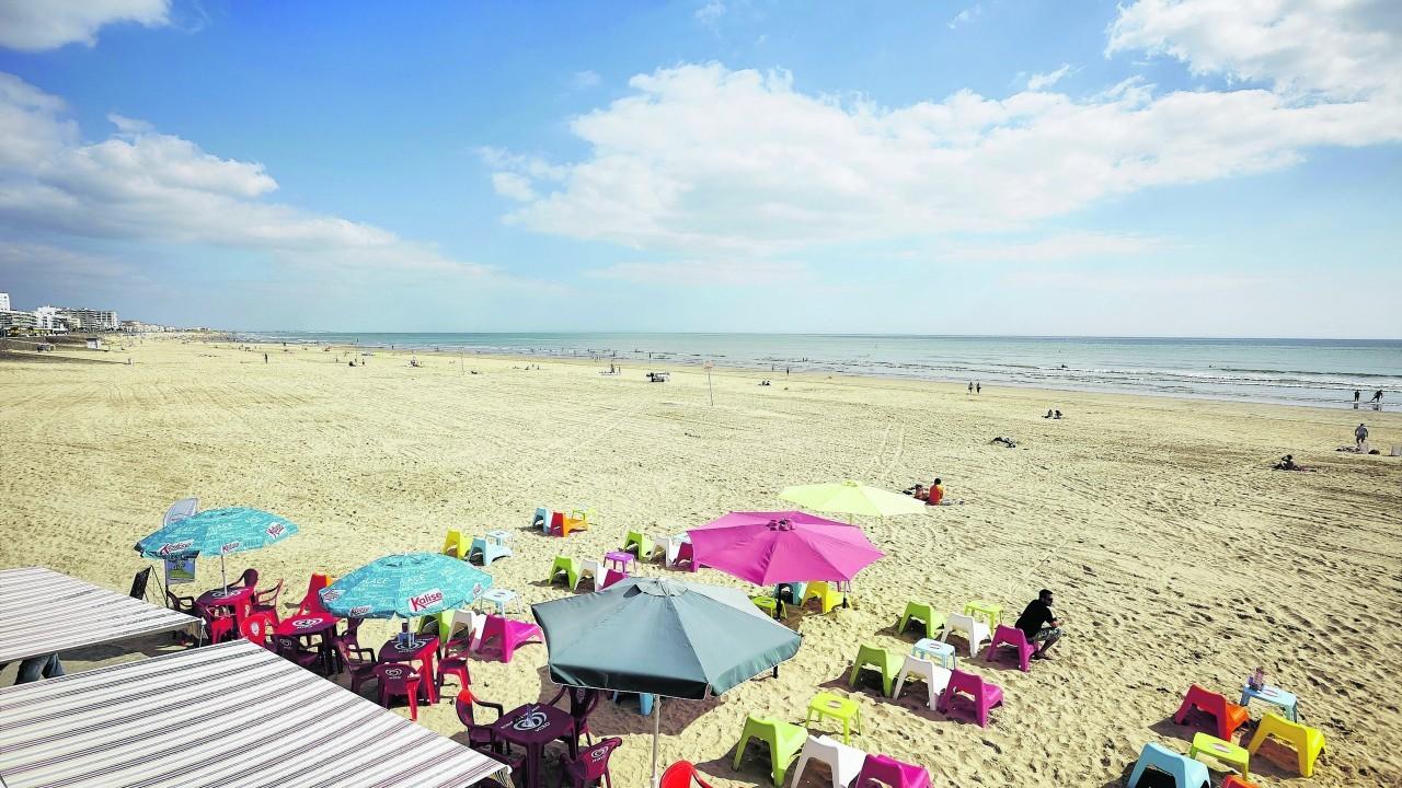 The beach in St Jean de Monts.