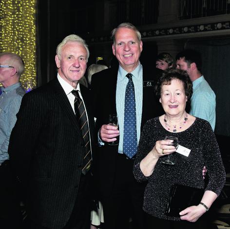Bert McIntosh, Mike Brown and Moira McIntosh
