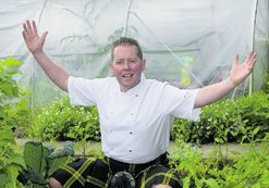 Chef Craig Wilson, from Eat on the Green in Udny Green, Aberdeenshire