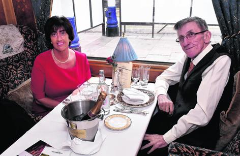 Lesley Stevenson and Charlie Grant