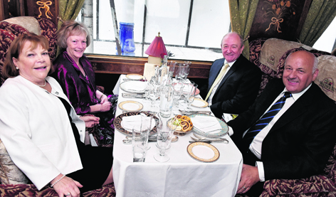 Kathleen and Alan Grant, front, with Theresa and Allan Porter