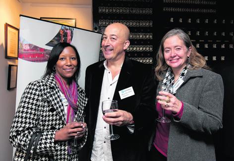 Bertie Taylor, John Mainwaring and Karen Boman
